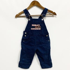 Harley-Davidson | Blue Denim Embroidered Overalls